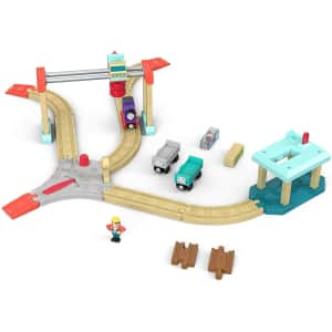Thomas & Friends Wood Lift & Load Cargo Train Track Set for $44