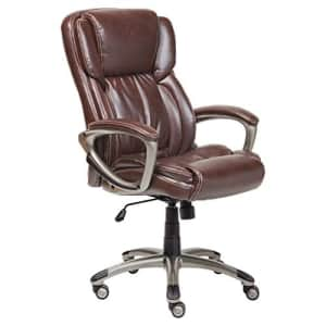 Serta Executive Office Adjustable Ergonomic Computer Chair with Layered Body Pillows, Waterfall for $209