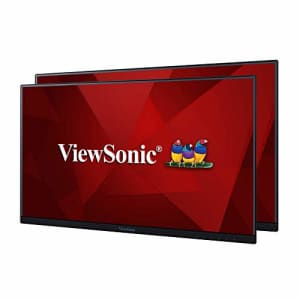 ViewSonic VA2456-MHD_H2 Frameless Dual Pack Head-Only 1080p IPS Monitors with HDMI DisplayPort and for $434