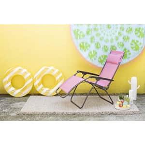 Lafuma R-Clip Zero Gravity Patio Recliner (Ocean Blue Batyline Canvas) Outdoor Folding Lounge Chair for $180