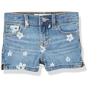 Levi's Girls' Denim Shorty Shorts, Milestone, 8 for $20