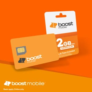 Boost Mobile 2GB 4G/5G Data Per Month for $9 a month
