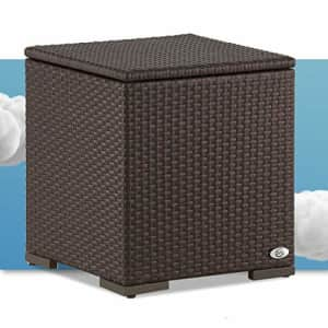 Serta Laguna Resin Outdoor Patio Furniture Collection, Side Table, Brown Wicker for $129