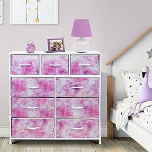 Sorbus Dresser with 9 Drawers - Furniture Storage Chest Tower Unit for Bedroom, Hallway, Closet, for $100