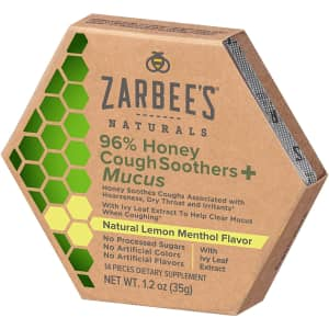 Zarbee's Naturals 96% Honey Cough Soothers + Mucus for $5