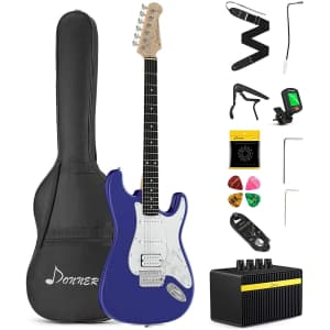 """Donner 39"""" Beginner Electric Guitar Kit for $127"""