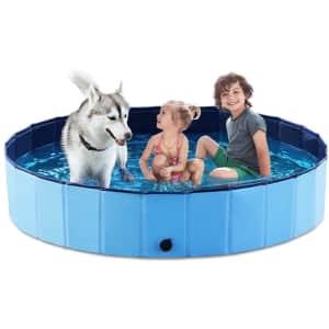 """Jasonwell 63"""" Foldable Dog Pool for $56"""