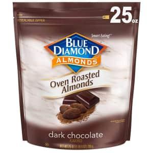 Blue Diamond 25-oz. Dark Chocolate Oven Roasted Almonds for $7.36 via Sub & Save