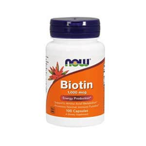 Now Foods NOW Supplements, Biotin 1,000 mcg, Amino Acid Metabolism*, Energy Production*, 100 Capsules for $14