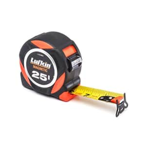 """Crescent Lufkin 1-3/16"""" x 25' L1000 Command Series Magnetic Yellow Clad Dual Sided Tape Measure - for $25"""