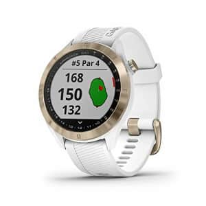 Garmin Approach S40, Stylish GPS Golf Smartwatch, Lightweight With Touchscreen Display, White/Light for $262