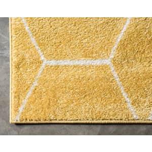 Unique Loom Trellis Frieze Collection Lattice Moroccan Geometric Modern Yellow Area Rug (8' 0 x 10' for $129