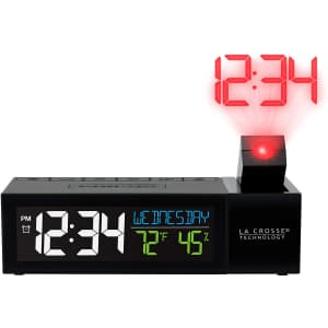 La Crosse Technology Pop-Up Bar Projection Alarm Clock with USB for $26