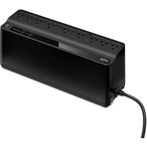 APC 850VA 9-Outlet Battery Backup UPS & Surge Protector for $105