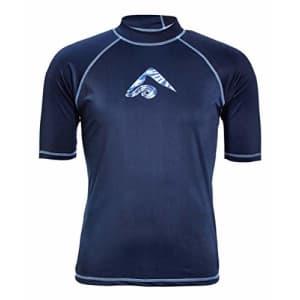 Kanu Surf Men's Mercury UPF 50+ Short Sleeve Sun Protective Rashguard Swim Shirt, Twister Navy, for $22