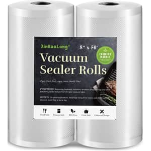 """XinBaoLong 8"""" x 50-Ft. Vacuum Sealer Roll 2-Pack for $10"""