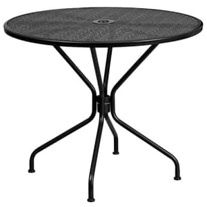 """Flash Furniture Commercial Grade 35.25"""" Round Black Indoor-Outdoor Steel Patio Table for $157"""