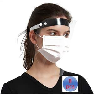 Giolshon Protective Face Visor 8-Pack for $4