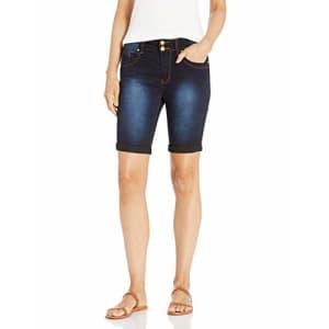 V.I.P. JEANS Women's Super Cute Jeans Shorts Acid Washed, Vintage Blue, 13 for $32