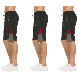 Nextex Men's Moisture Wicking Shorts 3-Pack for $29