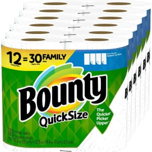 Bounty Quick-Size Paper Towel Family Roll 12-Pack for $23