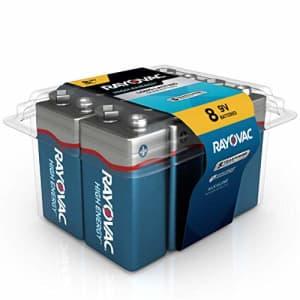Rayovac 9V Batteries, Alkaline 9V Battery (8 Count) for $15