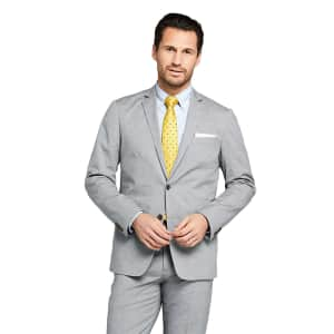 Lands' End Men's Traditional Fit Comfort First Cotton Oxford Sport Coat for $33