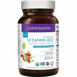 New Chapter Vitamin B12, Fermented Vitamin B12 1, 000 Mcg, One Daily with Whole-Food Herbs + for $26