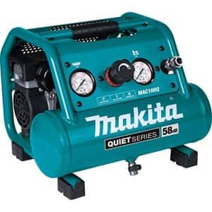 Makita MAC100Q Quiet Series, 1/2 HP, 1 Gallon Compact, Oil-Free, Electric Air Compressor for $195