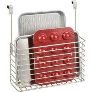 mDesign Over Cabinet Kitchen Storage Organizer for $18