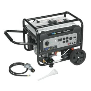 Quipall Dual Fuel Powered Portable Generator for $480