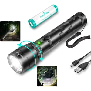 Peetpen Rechargeable LED Tactical Flashlight for $23