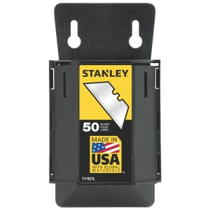 Stanley Heavy-Duty Steel Blades 50-Pack with Dispenser for $3.99 for Ace Rewards members