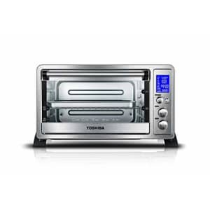 Toshiba AC25CEW-SS Digital Oven with Convection/Toast/Bake/Broil Function, 6-Slice Bread/12-Inch for $63