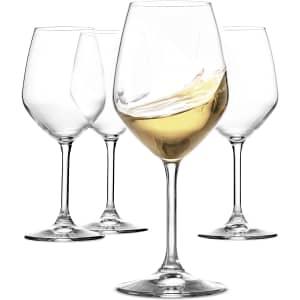 Paksh 15-oz. Italian White Wine Glasses 4-Pack for $16