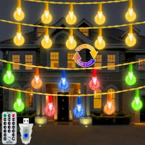 Ollny 49-Foot Outdoor String Lights for $12