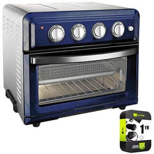 Cuisinart TOA-60NV Convection Toaster Oven Air Fryer with Light, Navy Bundle with 1 Year Protection for $230