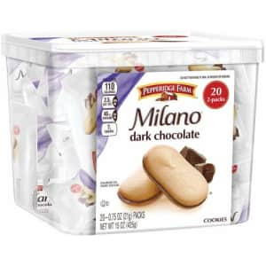 Pepperidge Farm Milano Cookies 2-Pack 20-Count Tub for $7