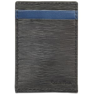 Calvin Klein Men's Textured Leather Card Case for $16