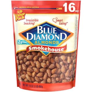 Blue Diamond Smokehouse Almonds 16-oz. Bag for $6