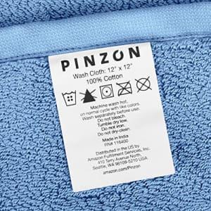 Amazon Brand Pinzon Heavyweight Luxury Cotton Washcloths - Set of 2, 12 x 12 Inch, Marine for $9