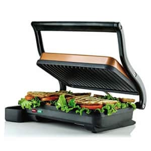Ovente Electric Panini Press Sandwich Maker Grill Double Nonstick Flat Cooking Plate 10.2 x 6.7 for $31