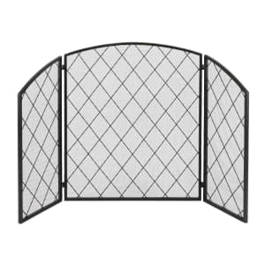 3-Panel Wrought Iron Fireplace Screen for $50