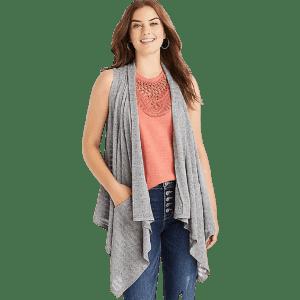 Maurices Women's Pocket Duster Vest for $22