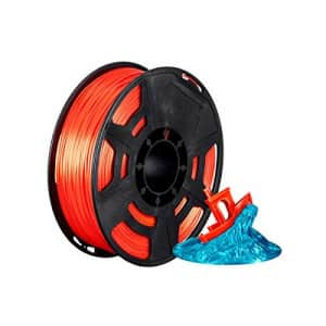 Monoprice Hi-Gloss 3D Printer Filament PLA 1.75mm - 1kg/Spool - Orange Red, Works with All PLA for $21