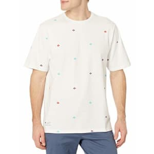 LRG Men's Spring 2021 Striped-Solid Knit Crew T-Shirt, Infantree White, Medium for $24