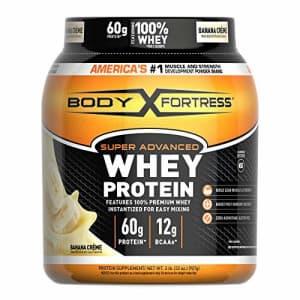 Body Fortress Super Advanced Whey Protein Powder, Gluten Free, Banana Cream, 2 Pound for $17
