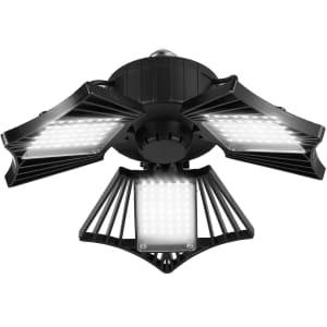 ETS 80W Deformable LED Garage Light for $11
