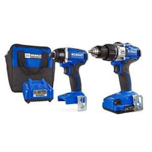 Kobalt 24V MAX Brushless 2 Tool Combo Kit #0672827 for $333
