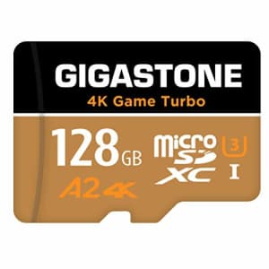 [5-Yrs Free Data Recovery] Gigastone 128GB Micro SD Card, 4K UHD Game Turbo, MicroSDXC Memory Card for $20